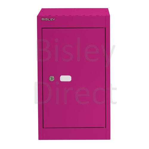 CLK121C-be2-Fuschia Bisley Cube Locker  1 Door  52cm High 30.5cm wide 30.5cm deep