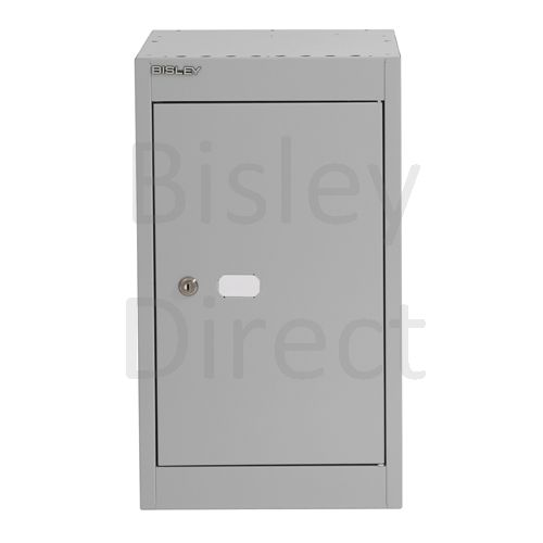 CLK121C-av4-Goose Grey Bisley Cube Locker  1 Door  52cm High 30.5cm wide 30.5cm deep