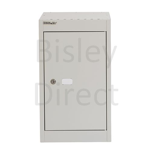 CLK181C-av4-Goose Grey Bisley Cube Locker  1 Door  52cm High 30.5cm wide 45.7cm deep