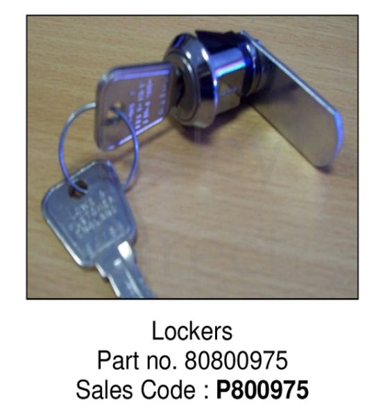 Locker lock for CLK12 or CLK18  range P800975