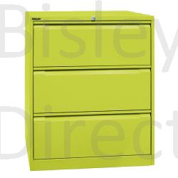 DF3-bp8-Mimosa Bisley Double A4 3  Drawer Filing 101cm High 80cm wide 62.2cm deep