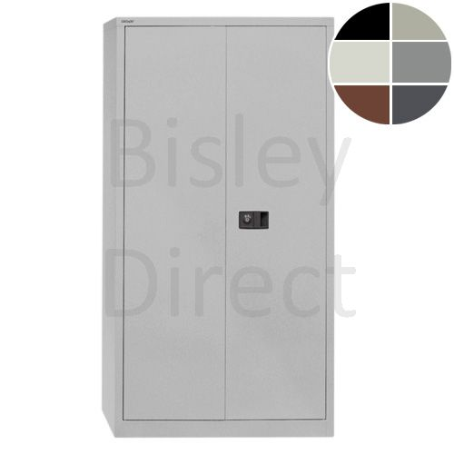 Bisley value locking stationery cupboard with 3 shelves  H 181 D 40 W 91 cm E722A03-