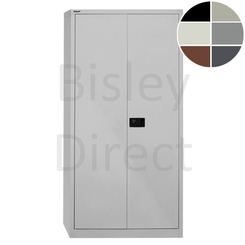 Bisley value locking stationery cupboard with 4 shelves  H 195 D 40 W 91 cm E782A04-