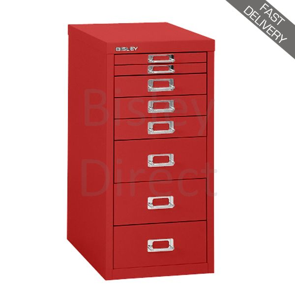 Fast Delivery Bisley Red Home Multidrawers 8 drawer H 590mm H298BNL-ay8