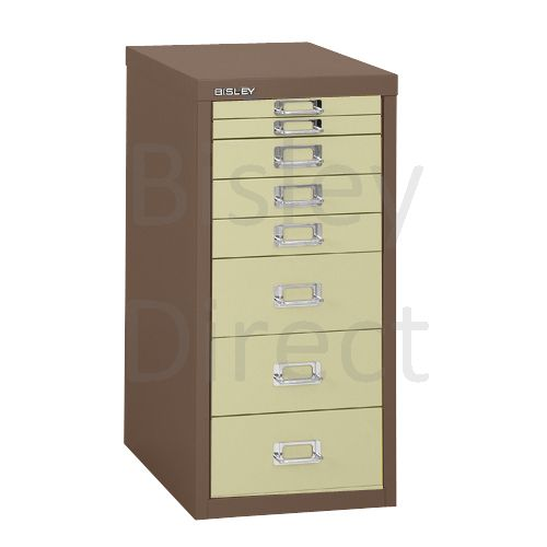 Bisley 8 Drawer non-locking  Multidrawer for home or office H 59 W 28 D 38 cm H298BNL-av5av6-CoffeeCream