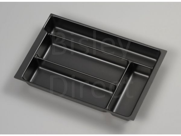 Bisley A4 pen tray height 51mm PIT580 black for Multidrawers only