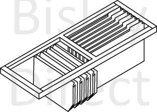 4. Bisley Roll out filing frame for Euro tambour 1000mm wide ET410RFPS black