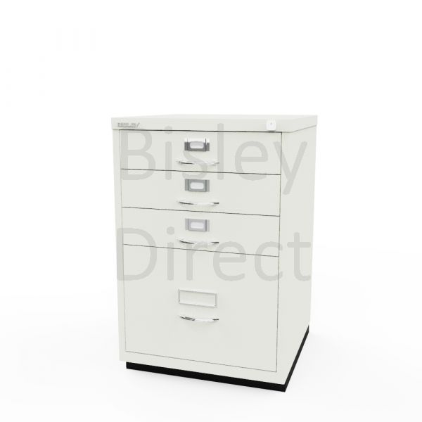 Bisley F Series 4 drawer filing cabinet Classic Front H 71 W 47 D 47cm  050-ab9-Chalk