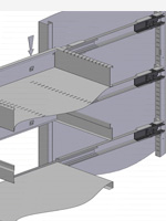 Roll out filing frame